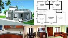 2 bhk house plans 800 sqft 800 sq ft 2 bedroom contemporary style single floor house