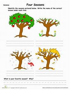seasons worksheets for grade 4 14737 learn the four seasons search pictures and kid