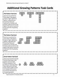 growing patterns worksheets for 3rd grade 573 here s a lesson on patterns that focuses on growing patterns repinned by chesapeake college