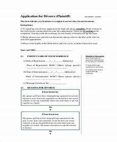free 5 sle divorce application forms in pdf word