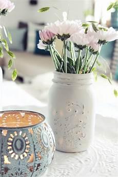 kreidefarbe auf glas s bastelkistle diy look blumenvasen