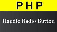 handle radio button in php hindi youtube