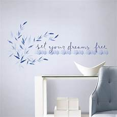 inspirational wall sticker quotes set your dreams free wall decals kathy davis inspirational