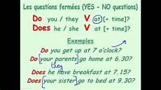 Questions Sur La Routine En Anglais