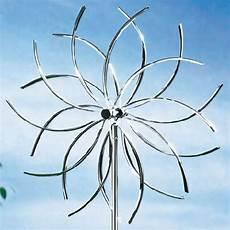 windrad blume windspiel garten dekoration aus edelstahl