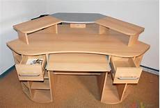 computertisch buche computertisch buche metall kombi inkl tastaturauszug