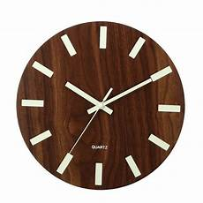 Glow Mute Wood Wall Clock by Wooden Wall Clock Glow In The Silent Quartz Indoor