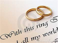 wedding rings and vow royalty free stock image 13976817