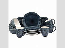 Elama's Petra 16 Piece Stoneware Dinnerware Set   Walmart.com