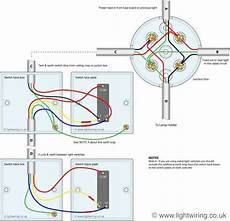two way switching 3 wire system old cable colours using a junction box elektryka