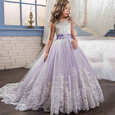 2017 pink butterfly flower girl dresses for weddings long sleeves pearls ball gown kids prom
