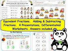 fraction worksheets y3 4177 ks2 y3 fractions equivalents adding subtracting 4 presentations and 17 pages of worksheets