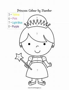 free coloring pages of princess color by number numbers