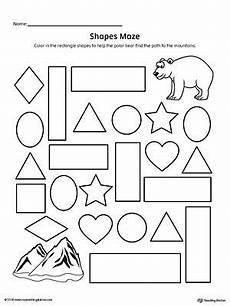 shape maze worksheet 1194 rectangle shape maze printable worksheet math patterns mazes for printable mazes for