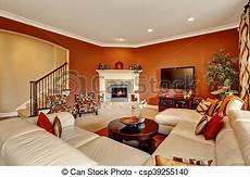 typisch amerikanisches wohnzimmer typical american family room with large sofa set