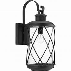 progress lighting hollingsworth collection 1 light black 24 in outdoor wall lantern sconce