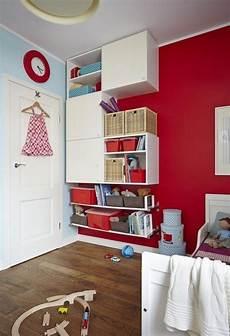 Jugendzimmer Farben Wandgestaltung - ideen wandgestaltung kinderzimmer rote akzentwand wei 223 e