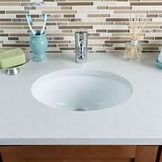 hahn ceramic small oval bowl undermount white bathroom