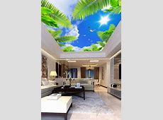 Blue Sky Wall Mural Custom 3D Wallpaper For Walls Natural