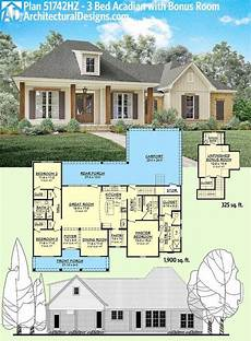 house plans acadian plan 51742hz 3 bed acadian home plan with bonus over