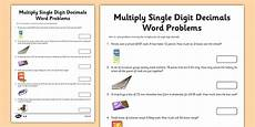 decimals word problems worksheets grade 6 year 6 multiply single digit decimals word problems worksheet