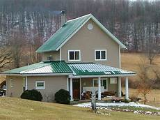 green metal roof mocha paint with white trim door or new home metal roof