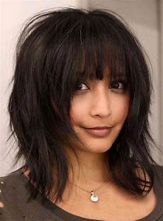 layered bob messy straight medium synthetic hair with