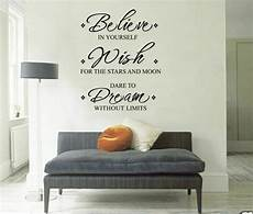 wall sticker decal quotes inspirational quot believe wish quot wall stickers removable