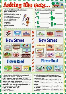 giving directions worksheets 11680 asking the way worksheet free esl printable worksheets made by teachers