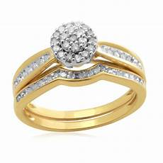 gold over silver 1 4ct diamond eternal treasures bridal size 7 only