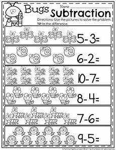 subtraction problems worksheets for kindergarten 10527 subtraction worksheets planning playtime