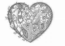 ausmalbilder f 252 r erwachsene herz valentines