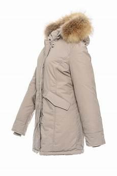basic de damen parka echtfell winter jacke mantel echtfell