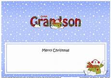 large dl merry christmas great grandson insert with snowman cup924460 359 craftsuprint