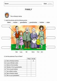 worksheets on family members 18409 power 2nd grade unit 3 family