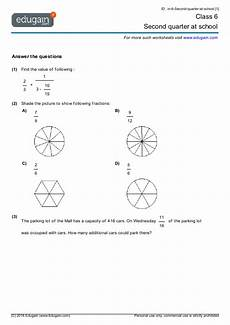 worksheet class 6 18822 grade 6 math worksheets and problems second quarter at school edugain usa
