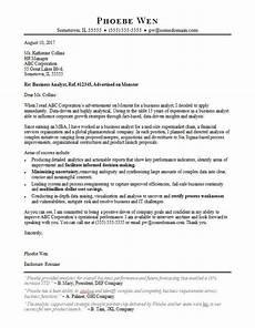 cover leter sle for busines analyst job business analyst cover letter sle monster com