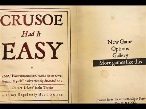 Crusoe Had It Easy Download