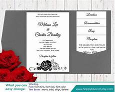 diy printable pocket wedding invitation template