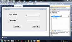 how to create login form in visual studio and connect with sql server