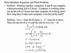 word problems involving quadratic equations ppt tessshebaylo