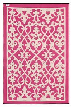 garten im quadrat outdoor teppich venedig ranken pink wei 223