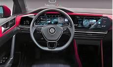 volkswagen golf 8 to boast dual screen cockpit report