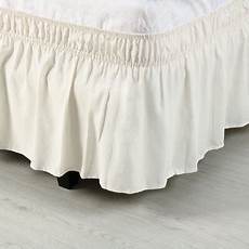 trouver un cing bed skirt polyester wrap around dust ruffle 15 inch drop
