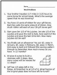 word problem worksheets high school 11048 realistic math problems help 6th graders solve real questions math word problems math words