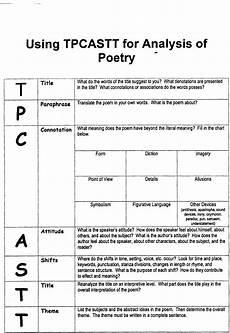 tpcastt form language arts resources pinterest