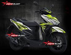 Modif Stiker Vario 150 by Grafis Inspirasi Honda Vario 150 Esp Black And White Green