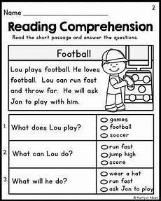 kindergarten reading comprehension passages set 1 freebie preschool worksheets first grade