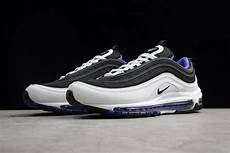 new nike air max 97 white black persin violet s size