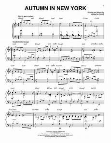 autumn in new york sheet music by vernon duke piano 178404